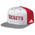 adidas™ Men's Houston Rockets Flat Brim Snapback Cap