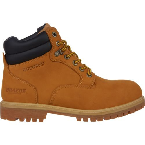 Brazos Men's Waterproof Nubuck Work Boots