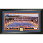 The Highland Mint Boise State University Stadium Bronze Coin and Panoramic Photo Mint