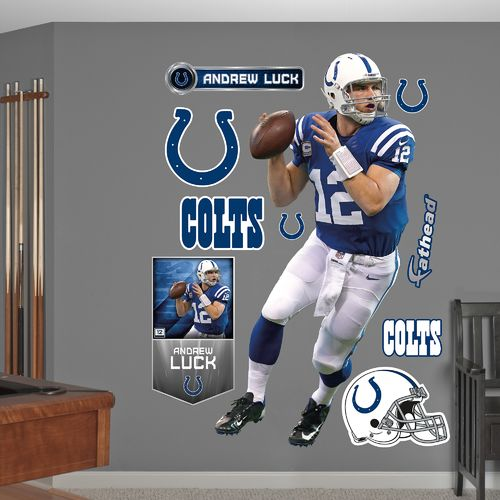 Fathead Indianapolis Colts Andrew Luck Home Real Big