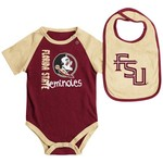 Colosseum Athletics Infants' Florida State University Rookie Onesie and Bib Set