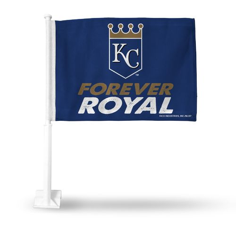 Rico Kansas City Royals Forever Royal Car Flag