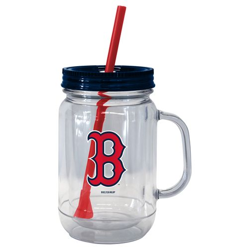 Boelter Brands Boston Red Sox 20 oz. Handled Straw Tumblers 2-Pack