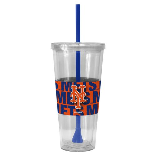 Boelter Brands New York Mets Bold Neo Sleeve 22 oz. Straw Tumblers 2-Pack - view number 1