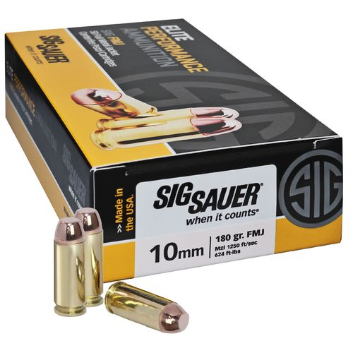 Display product reviews for SIG SAUER Elite Ball 10mm 180-Grain Centerfire Pistol Ammunition