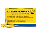 Buffalo Bore .38 S&W 125-Grain Hard-Cast Flat-Nose Centerfire Handgun Ammunition - view number 1