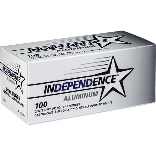 Display product reviews for Independence® Aluminum 9mm Luger 115-Grain Handgun Ammunition