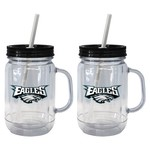 Boelter Brands Philadelphia Eagles 20 oz. Handled Straw Tumblers 2-Pack - view number 1