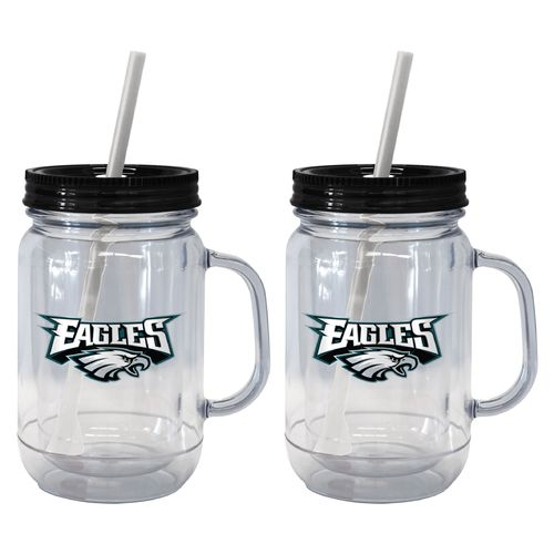 Boelter Brands Philadelphia Eagles 20 oz. Handled Straw Tumblers 2-Pack