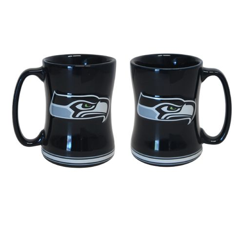 Boelter Brands Seattle Seahawks 14 oz. Relief Mugs 2-Pack