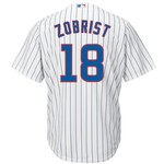 Majestic Men's Chicago Cubs Ben Zobrist #18 Cool Base Replica Jersey