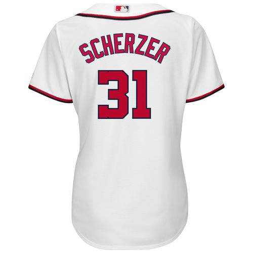 Majestic Women's Washington Nationals Max Scherzer #31 Cool Base Replica Home Jersey - view number 1