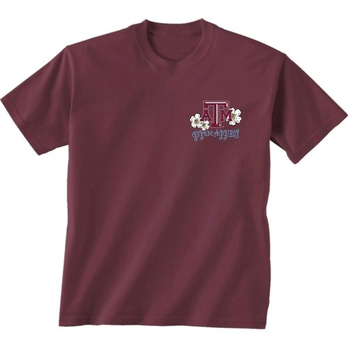 New World Graphics Women's Texas A&M University Bright Plaid T-shirt - view number 2