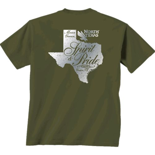 New World Graphics Women's University of North Texas Silver State Distress T-shirt