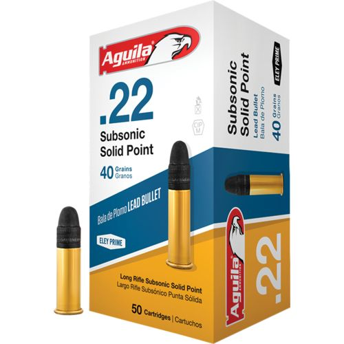 Display product reviews for Aguila Ammunition Subsonic Solid-Point .22 40-Grain Rimfire Ammunition