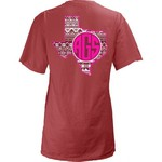 Three Squared Juniors' Texas A&M University Moonface Vee T-shirt