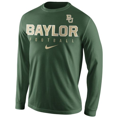Nike™ Men's Baylor University Practice Long Sleeve T-shirt