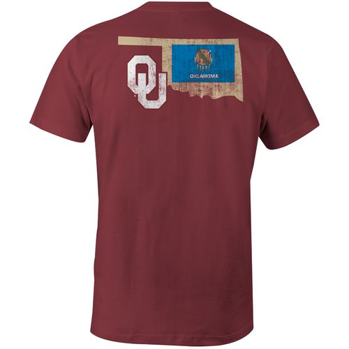 Image One Men's University of Oklahoma State Flag Comfort Color T-shirt