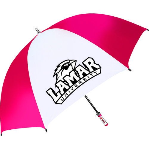 Storm Duds Lamar University Fiberglass Shaft Golf Umbrella with Color-Coordinated ID Handle