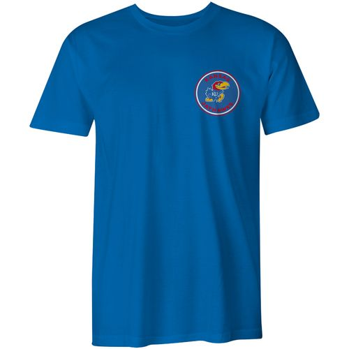 Image One Men's University of Kansas Rounds Comfort Color Short Sleeve T-shirt - view number 2
