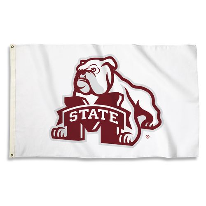 BSI Mississippi State University 3'H x 5'W Mascot Flag