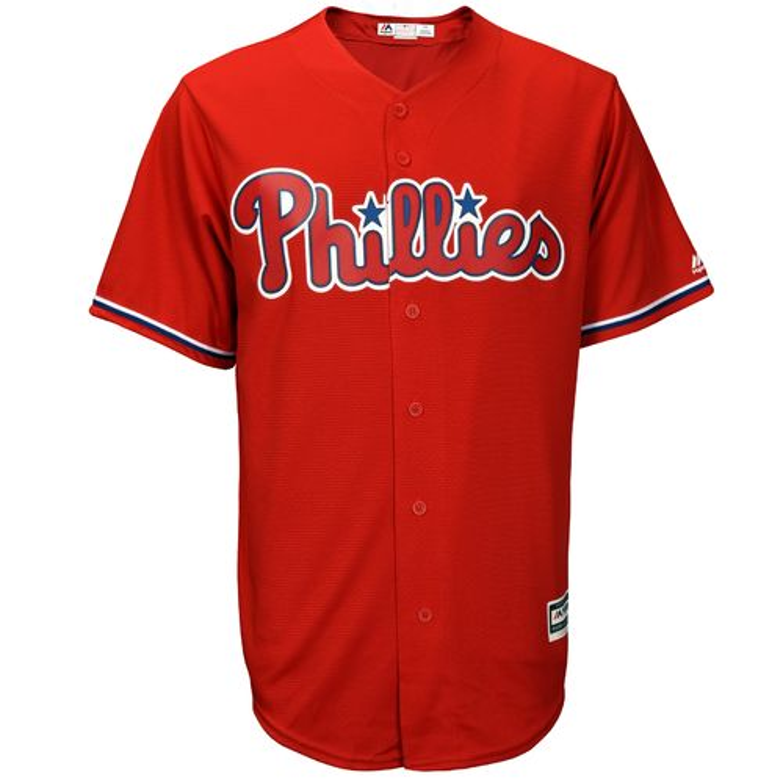 Majestic Men's Philadelphia Phillies Cody Asche #25 Cool Base Replica Jersey - view number 3