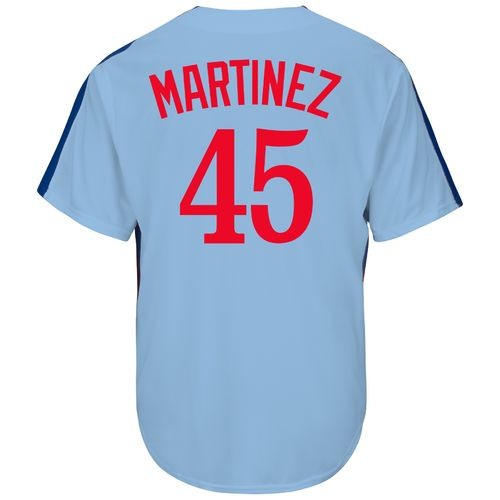 Wholesale Majestic Men's Montreal Expos Pedro Martinez #45 Cooperstown Cool Base Replica Jersey supplier