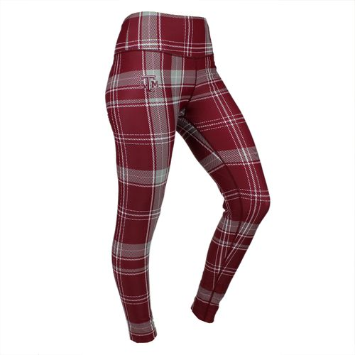 ZooZatz Women's Texas A&M University Tartan Plaid Legging