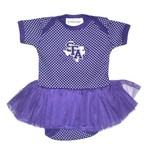 Two Feet Ahead Infant Girls' Stephen F. Austin State University Pin Dot Tutu Creeper - view number 1