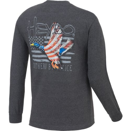 Display product reviews for Heybo Men's Patriot Duck Long Sleeve T-shirt