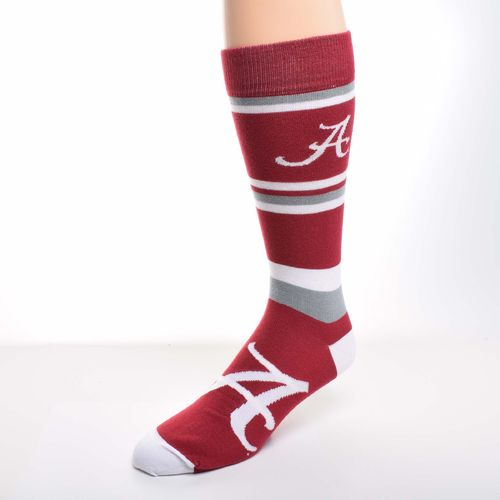 For Bare Feet Men's University of Alabama Squad Stripe Dress Socks