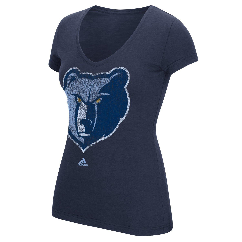 adidas™ Women's Memphis Grizzlies Logo V-neck T-shirt