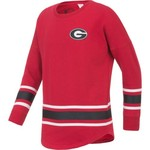 Colosseum Athletics™ Girls' University of Georgia Boyfriend Varsity Pullover - view number 2