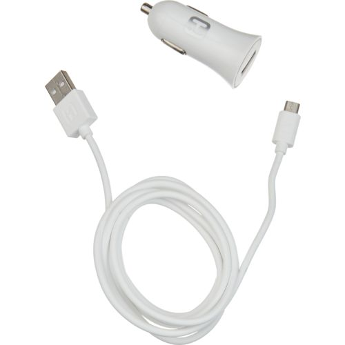 iHome 5' Soft Touch Micro USB 2.0 Sync Cable and Car Charger Set