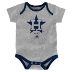 Majestic Infants' Houston Astros Home Run Onesies 3-Pack - view number 4