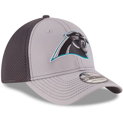 New Era Men's Carolina Panthers Grayed Out Neo 2T 39THIRTY Cap - view number 3