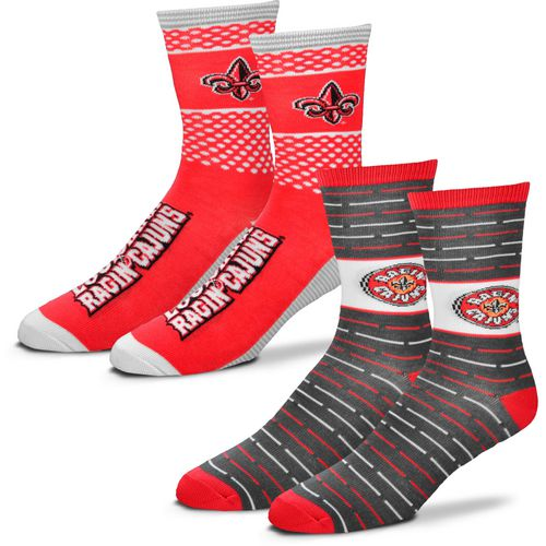 For Bare Feet Men's University of Louisiana at Lafayette Father's Day Socks