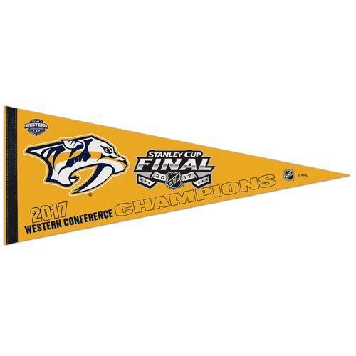 WinCraft Nashville Predators 2017 NHL Western Conference Champs 12x30 Premium Pennant