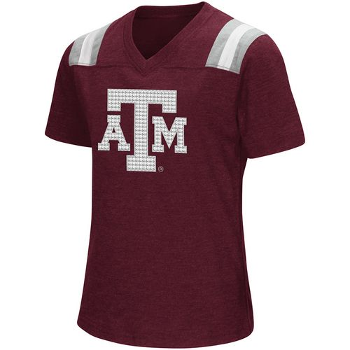 Colosseum Athletics Girls' Texas A&M University Rugby Short Sleeve T-shirt - view number 1