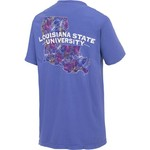 New World Graphics Women's Louisiana State University Comfort Color Puff Arch T-shirt - view number 2