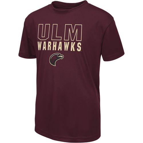 Colosseum Athletics Boys' University of Louisiana at Monroe Team Mascot T-shirt