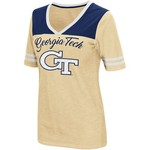 Colosseum Athletics Women's Georgia Tech Twist 2.1 V-Neck T-shirt - view number 1