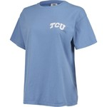 New World Graphics Women's Texas Christian University Comfort Color Circle Flowers T-shirt - view number 3
