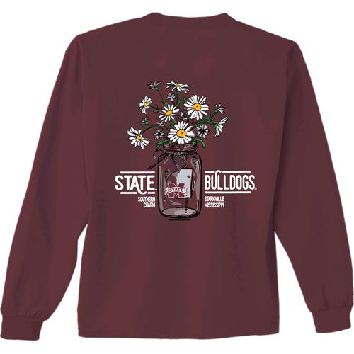 New World Graphics Women's Mississippi State University Bouquet Long Sleeve T-shirt