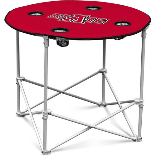 Logo Arkansas State University Round Portable Table
