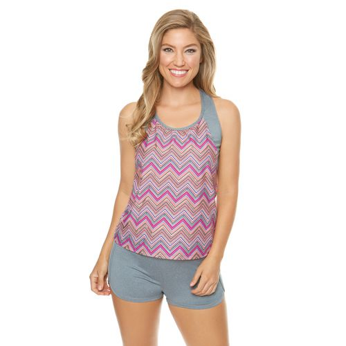 BCG Women's Chevron Mix Tankini Swim Top