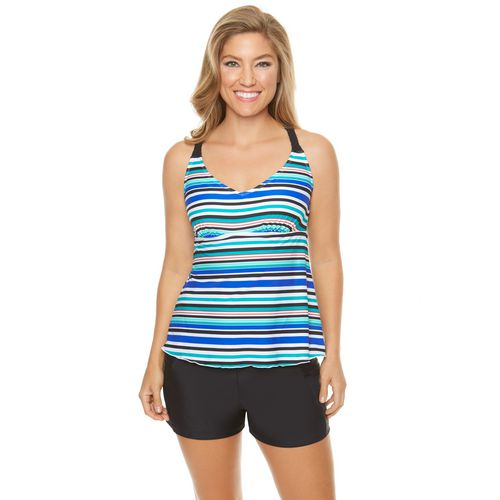 Sweet Escape Women's Multi Lane Tankini Swim Top