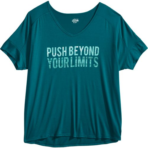 BCG Women's Graphic Plus Size V-neck T-shirt