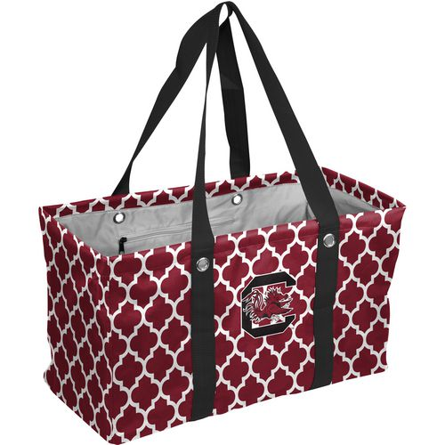 Logo University of South Carolina Quatrefoil Picnic Caddy