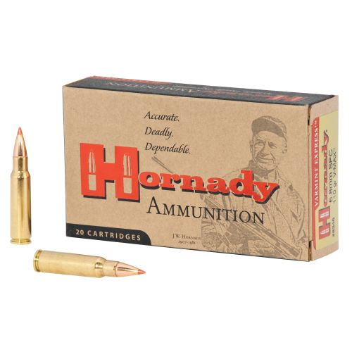 Hornady V-MAX ™ 6.8mm SPC 110-Grain Rifle Ammunition